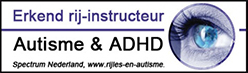 logo erkend rijinstructeur autisme